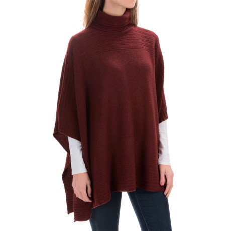 Adrienne Vittadini Turtleneck Poncho - Wool-Yak, Short Sleeve (For Women)