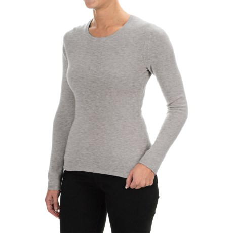 Adrienne Vittadini Cashmere Sweater - Crew Neck  (For Women)