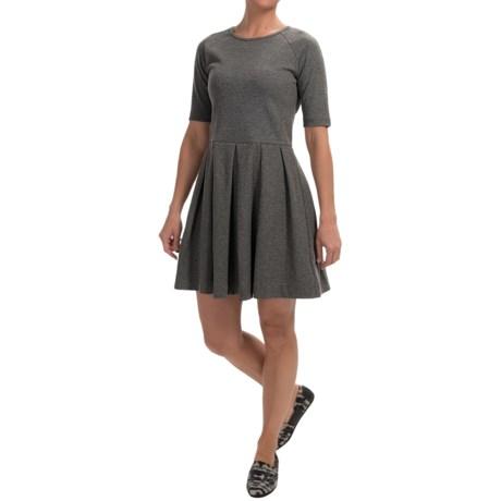 Fit & Flare Dress - Short Sleeve (For Women)