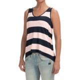 High-Low Hem Slub Shirt - Sleeveless (For Women)