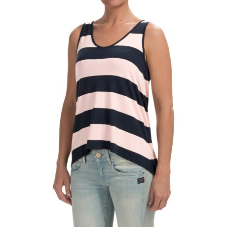 High-Low Hem Slub Shirt - Sleeveless (For Women)