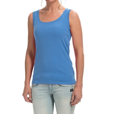 Weekend Stretch Cotton Tank Top (For Women)