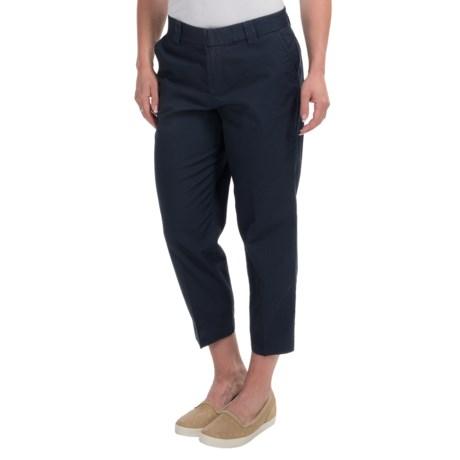 Cotton Crop Pants - Flat Front (For Women)