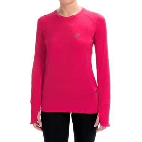 ASICS FujiTrail V-Neck Shirt - Long Sleeve (For Women)