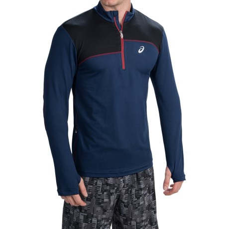 ASICS Thermopolis Pullover Shirt - Zip Mock Neck, Long Sleeve (For Men)