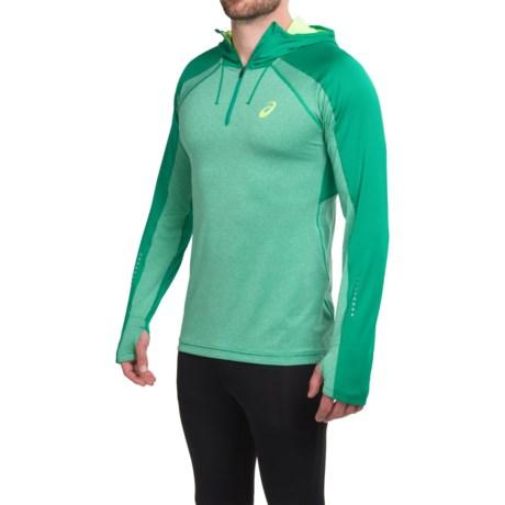 ASICS Hooded Pullover Shirt - Zip Neck, Long Sleeve (For Men)