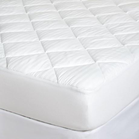 Restful Nights Grand Stripe Mattress Pad - Queen, 400 TC