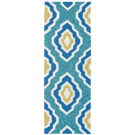 Kaleen Escape Geometric Indoor-Outdoor Floor Runner - 2x6'