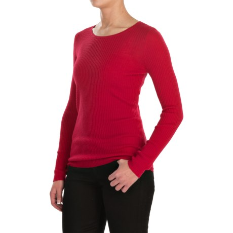 Jones New York Rib-Knit Sweater - Merino Wool For Women)