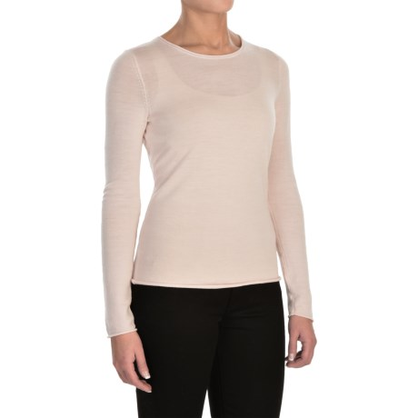 Jones New York Roll-Edge Light Sweater -  Merino Wool (For Women)