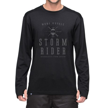 Mons Royale Riders Base Layer Top - Merino Wool, Long Sleeve (For Men)