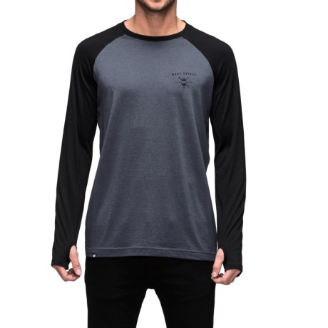 Mons Royale Raglan Base Layer Top - Merino Wool, Crew Neck, Long Sleeve (For Men)