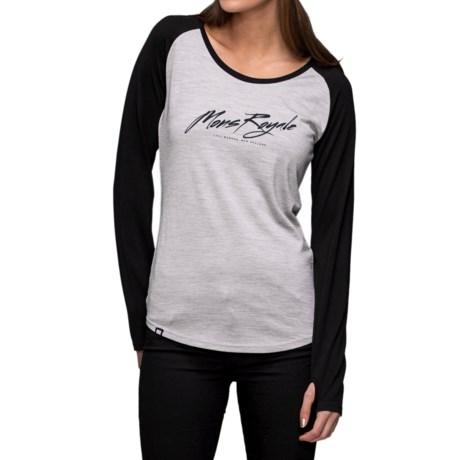 Mons Royale Raglan Base Layer Top - Merino Wool, Crew Neck, Long Sleeve (For Women)