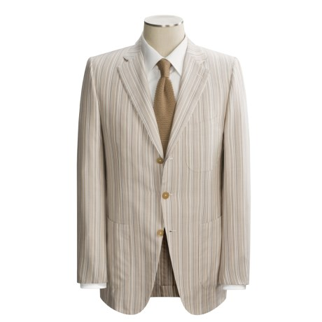 Isaia Multi-Stripe Sport Coat - Cotton and Silk (For Men)