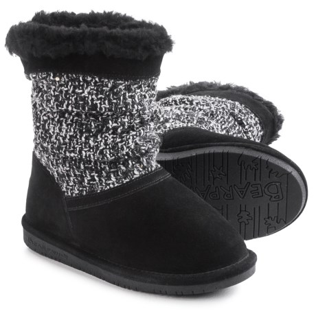 Bearpaw Donna Suede Boots - Wool Lined (For Little and Big Girls)
