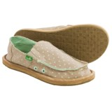 Sanuk Hot Dotty Chambray Shoes - Slip-Ons (For Big Girls)