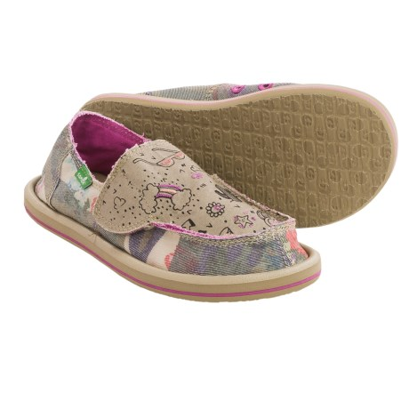 Sanuk Scribble II Shoes - Slip-Ons (For Little Girls)