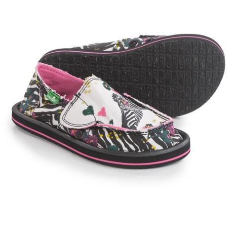 Sanuk Scribble II Shoes - Slip-Ons (For Little Girls)