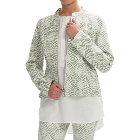 Lafayette 148 New York Printed Twill Jacket - Zip Front (For Women)