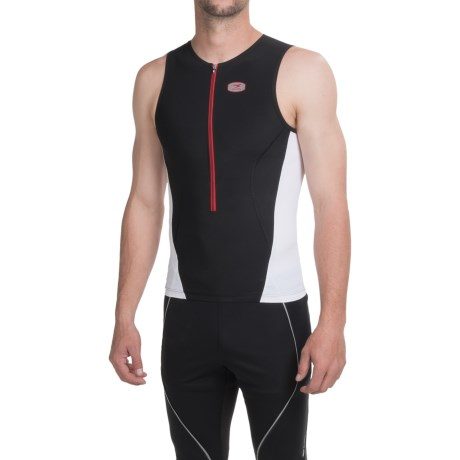 SUGOi RS Tri Tank Top - Zip Neck (For Men)