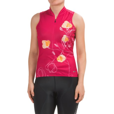 SUGOi Floral Cycling Jersey - UPF 20, Zip Neck, Sleeveless (For Women)