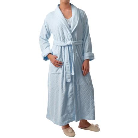 Paddi Murphy Softies Diamond Plush Fleece Robe - Long Sleeve (For Women)