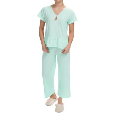 Paddi Murphy Softies Marissa Capri Pajamas - Short Sleeve (For Women)