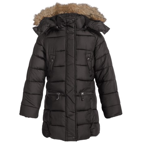 Weatherproof Long Bubble Winter Coat - Insulated (For Little and Big Girls)