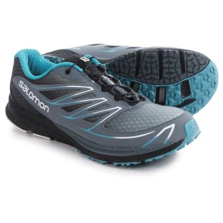 Salomon Sense Mantra 3 Trail Running Shoes (For Men) in Bleu Gris/Black/Boss Blue - Closeouts