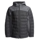 Weatherproof Color-Block Soft Shell Bubble Jacket (For Little and Big Boys)