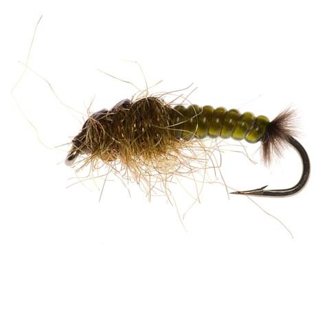 Umpqua Feather Merchants Hydro Caddis Larva Nymph Fly - Dozen