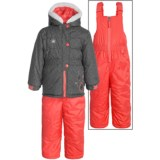 Rugged Bear Embroidered Winter Jacket and Bibs Set - Insulated, 2-Piece (For Toddlers)