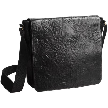 Scully Hidesign Washed Leather Messenger Bag