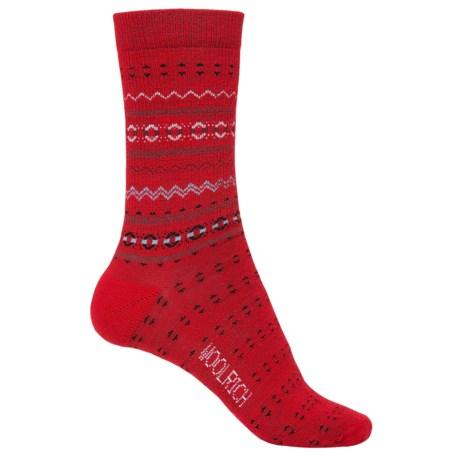 Woolrich Print Wool Socks - Merino Wool, Crew (For Women)