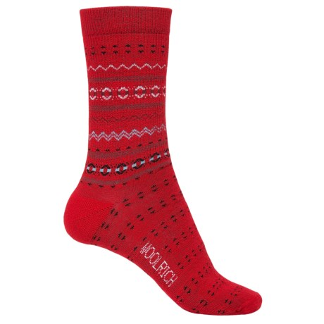 Woolrich Print Wool Socks - Merino Wool, Crew (For Women)