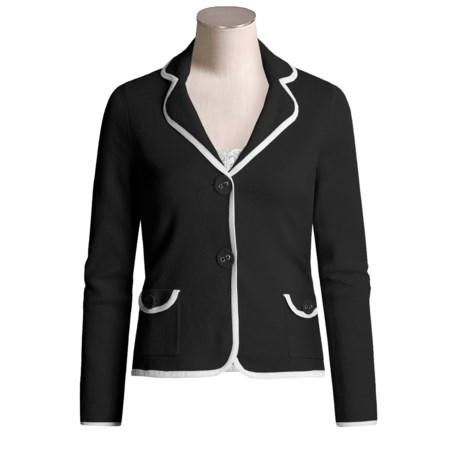 Cullen Cotton Knit Blazer - Tipped (For Women)