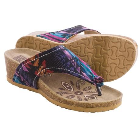 Muk Luks Olivia Terra Turf Sandals - Wedge Heel (For Women)