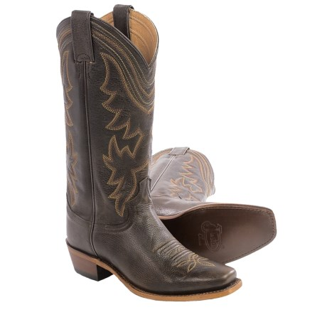 Justin Boots Waxy Cow Cowboy Boots - Square Toe (For Women)
