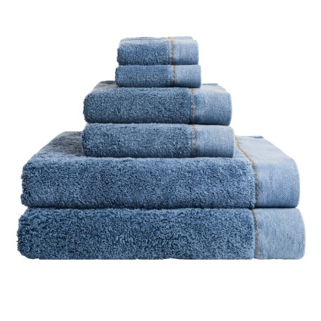 Members Only Stonewashed Turkish Cotton Towel Set - 6-Piece