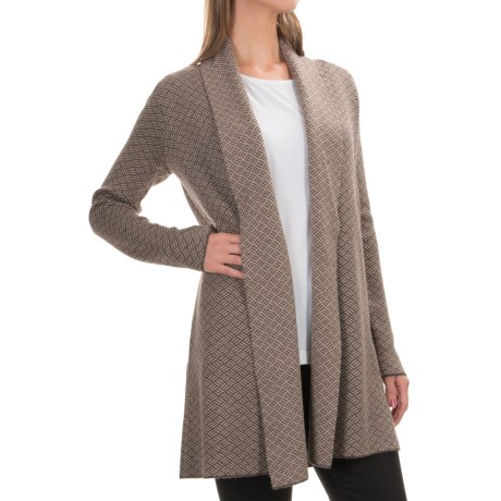 Nanette Lepore Birds Eye Cardigan Sweater - Merino Wool, Open Front (For Women)
