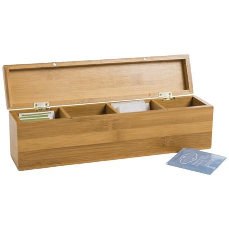 Creative Home Bamboo Tea Bag Box