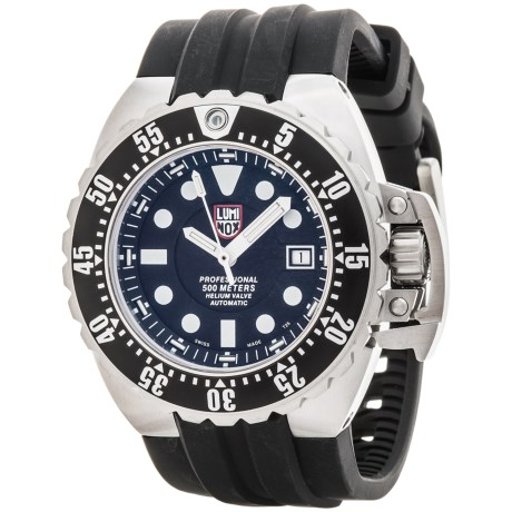 Luminox Deep Dive Automatic 1500 Series Watch - Rubber Strap (For Men)