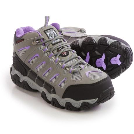 Skechers Blais-EBZ Leather Work Boots - Waterproof, Steel Toe (For Women)