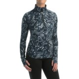 Reebok Stratum Dots Shirt - Zip Neck, Long Sleeve (For Women)