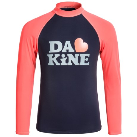 DaKine Classic Rash Guard Shirt - UPF 50, Long Sleeve (For Big Girls)