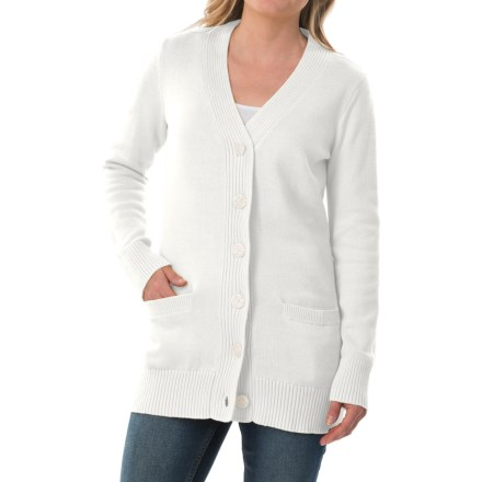 Pendleton Long Coventry Cardigan Sweater (For Women) in White - Closeouts