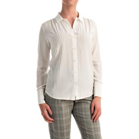Pendleton Silk Pintuck Blouse - Long Sleeve (For Women)