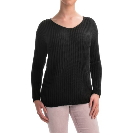 allen allen V-Neck Cotton Sweater (For Women)