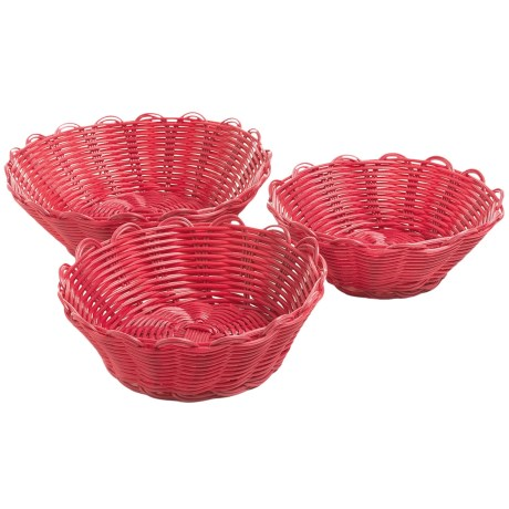 Two's Company Cupcakes Scalloped Baskets - Set of 3
