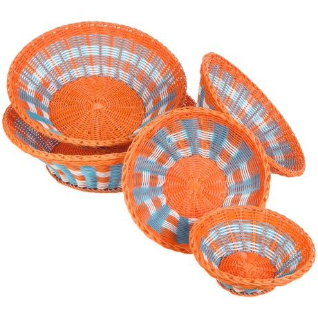 Two's Company Mad for Plaid Baskets - Set of 5